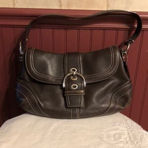 Coach leather shoulder bag EX cond!